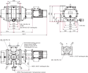 Dimensions Okta 2000 ATEX II 3G IIC T3 X
